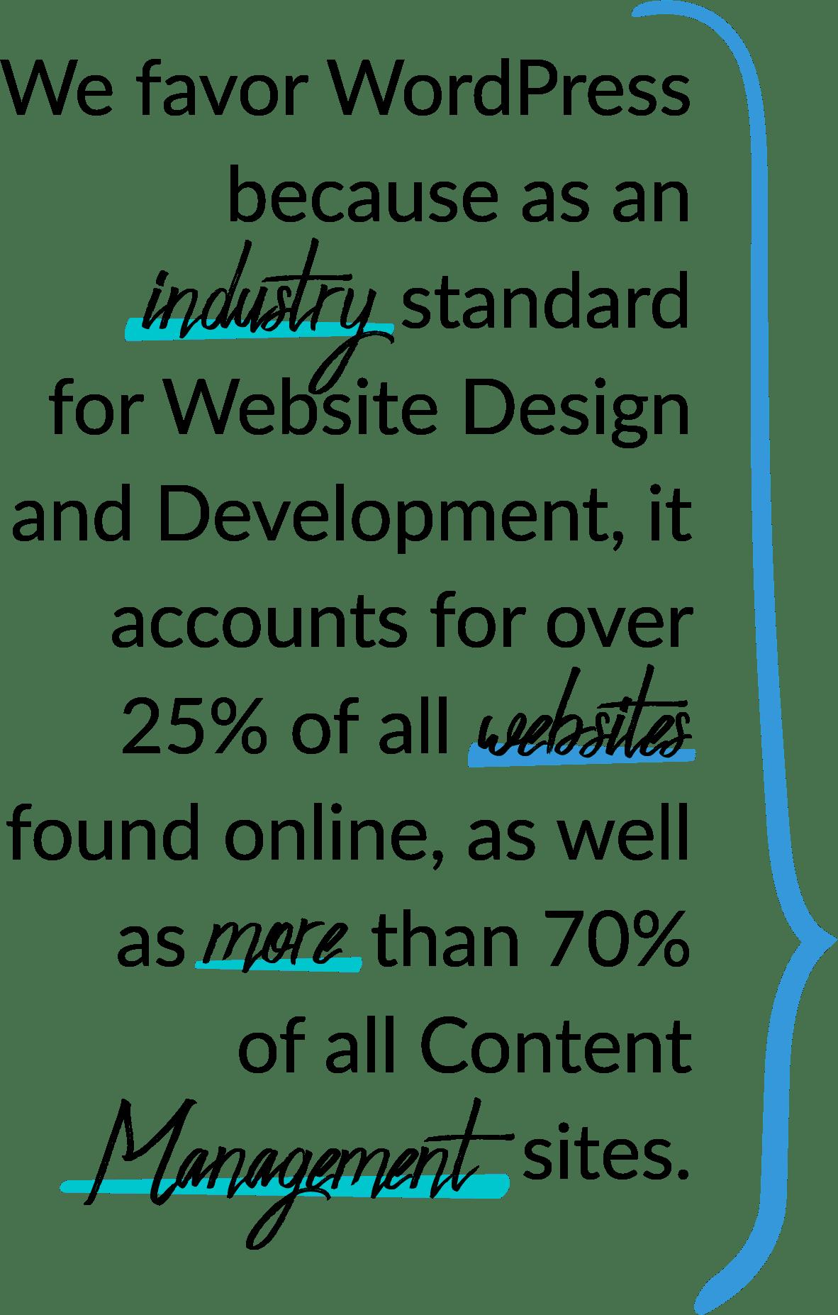 We favor Wordpress Design