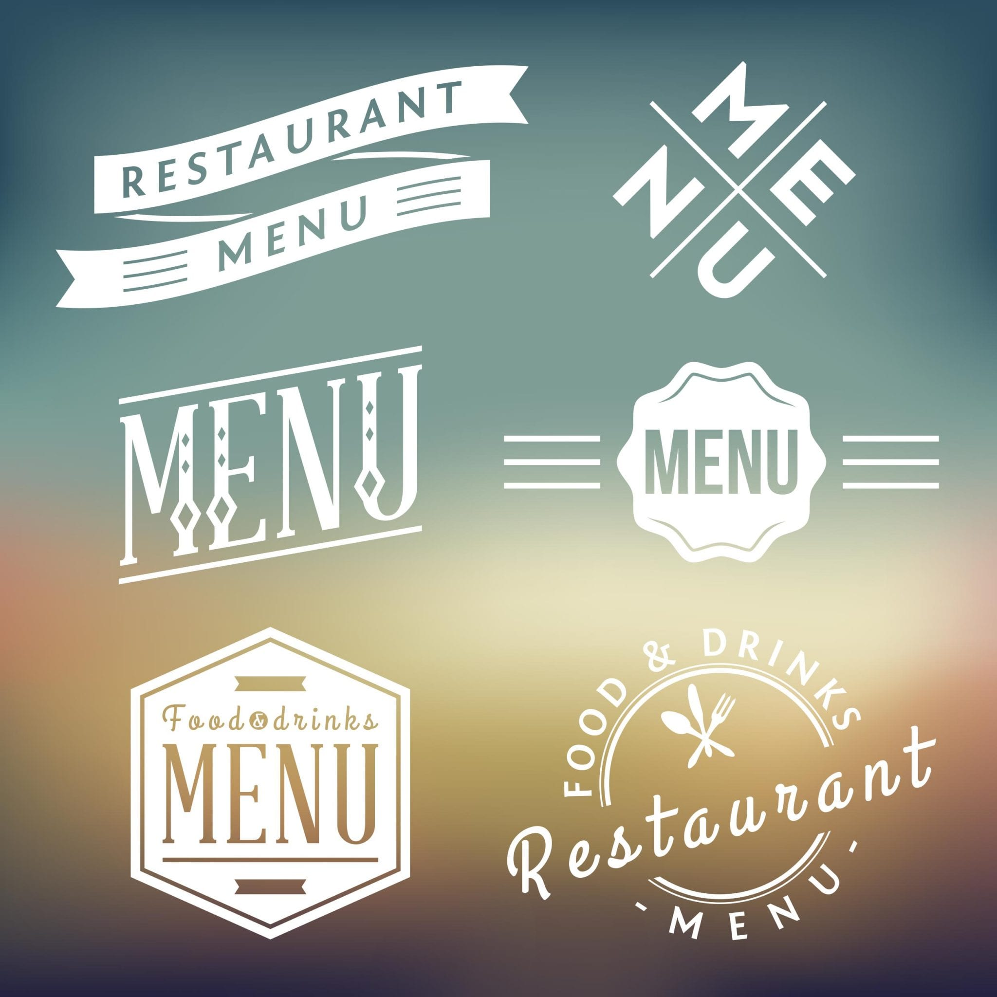 Restaurant Menu Background Design