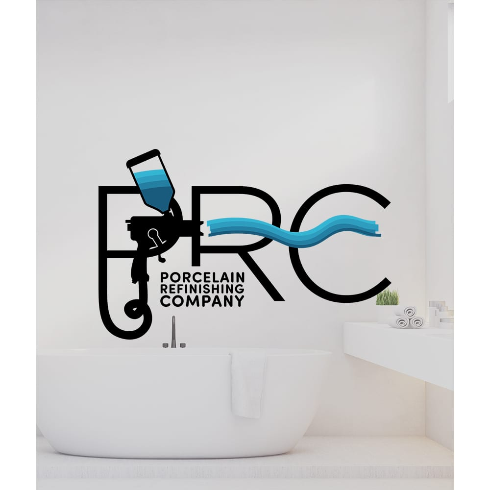 Creative 7 Designs Logo Design: Porcelain Refinishing Company