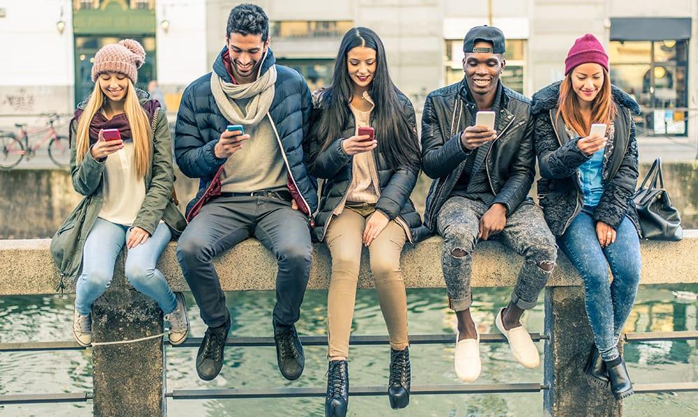 happy group playing pokemon go