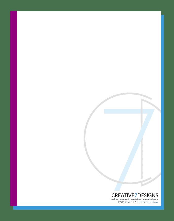 Creative 7 Design Letterhead