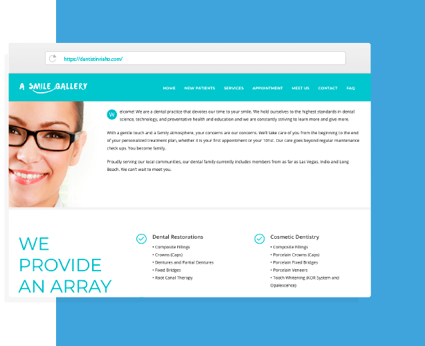 A Smile Gallery Website Design and Development by Creative 7 Designs